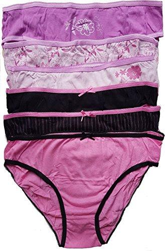 Simply Me.Lady's perfect. symply me.freegun.Underwear Damen Dessous Ultra Komfort: Unterhosen, Boxershorty, Mantel - Verschiedene Modelle für Fotos je nach Verfügbarkeit Gr. 36/38, Set mit 6 Slips - 2