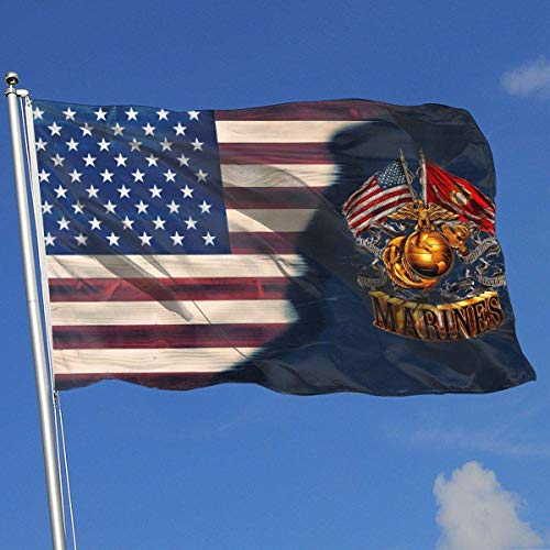 dfhsdh Flagge Marine Corps Flags 3x5 Foot Banner 3X5 Ft Polyester Banner Flags -