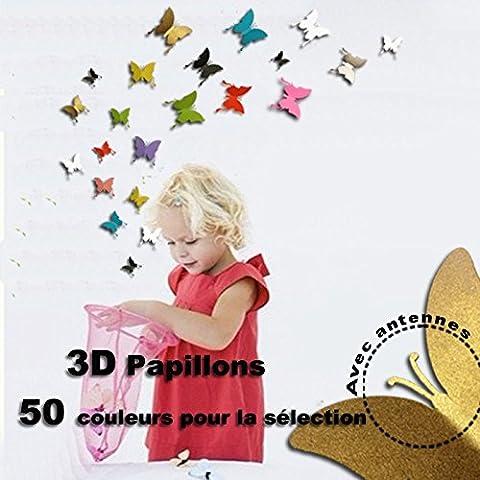 Adesivo Wall Sticker 3D farfalle parete tatuaggio