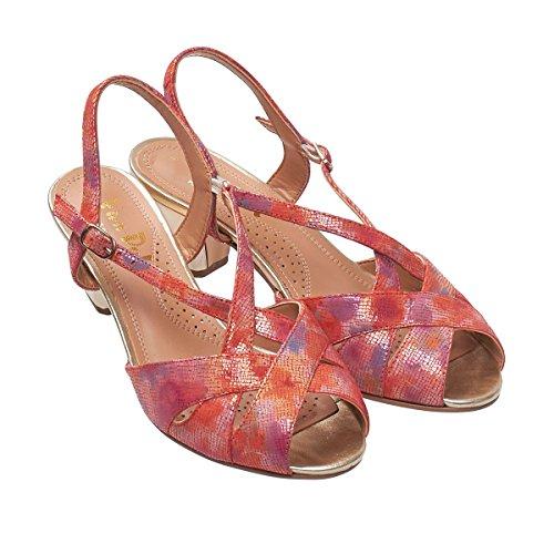 Van Dal , Damen Sandalen silber bambus Coral Blossom Print