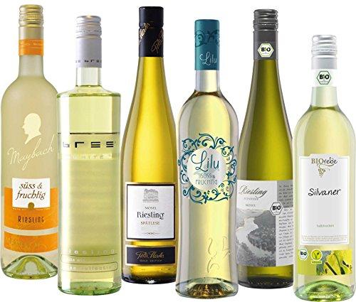 Peter Mertes sortiertes Paket Weißwein mit Restsüße (6 x 0.75 l)