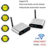 MEASY AV230 2.4GHz Wireless Audio Video Sender up to 300M/1000FT
