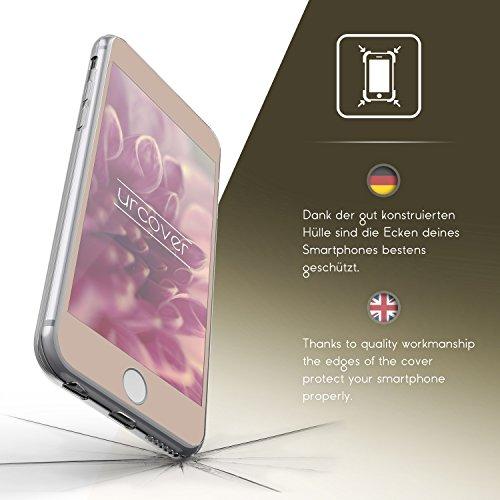 Urcover® Apple iPhone 6 Plus / 6s Plus Hülle | 360 Grad Case Schutz-hülle in Transparent | ohne Punktmatrix | Handy-Cover Rundum ultra slim Case dünn Schale | Smartphone Zuberhör Tasche Champagner Gold