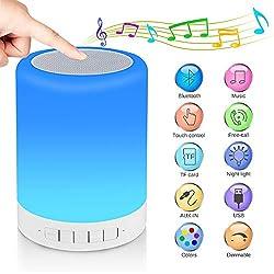 RAGZAN Nachttischlampe mit Bluetooth-Lautsprecher, Nachtlicht Tischlampe, Geschenk für Frauen Männer Teens Kinder Kinder...