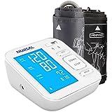 NURSAL Modernisiertes Blutdruckmessgerät für den Oberarm samt großem digitalen Monitor mit Hintergrundlicht und USB Ladekabel für 2 Nutzer (2x120 Speicherplätze)