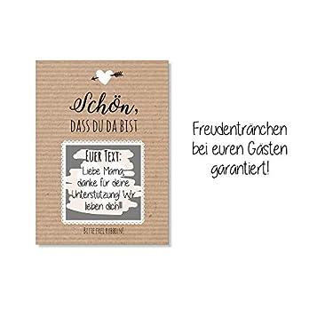 Gastgeschenk Hochzeit – Rubbelkarten Kraftpapier