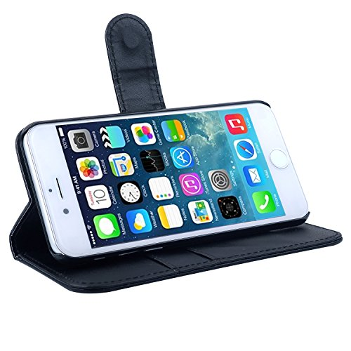 booEy® Handy Tasche für iPhone 6 / 6s Flip Case Schutz Hülle Cover grün Grün