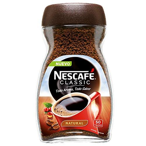Nescafé Café Classic Soluble Natural, Bote de cristal - 100 gr de Café