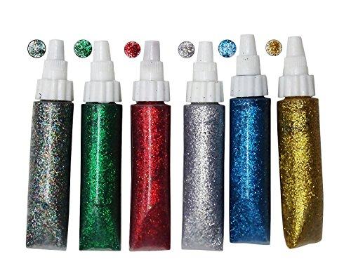 Kunst & Handwerk Glitter Sparkle Multicolor Kleber Tubes Set Von 6 Stück Für Hobby Crafts, Projekt Machen, Scrapbooking (Multicolor Glitter Handwerk)