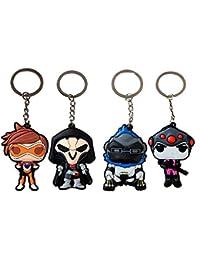Overwatch, Keychain - Reaper, Tracer, Widowmaker, Winston.