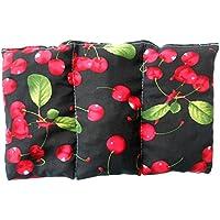 """Cuscino termico """"Black Cherrie"""" - 26 x 16 cm (M / L) - pieno di noccioli di ciliegia 330gr - effetto freddo/caldo . saco termiche"""