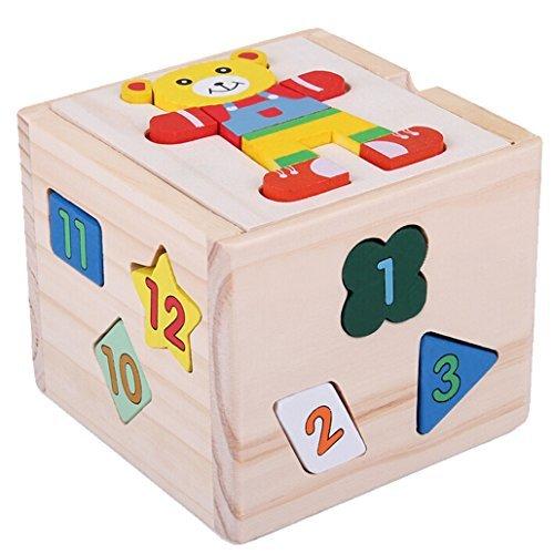 DEHANG – Jouet de Premier Age - Cube de tri de formes /...