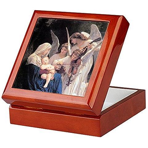 CafePress–Bouguereau Song Of The Angels–Keepsake Box, fertig Hartholz Jewelry Box, Samt Gefüttert Memento Box mahagoni