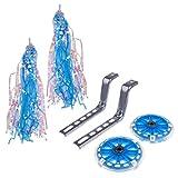 Sharplace Stützräder für 20 Zoll Fahrrad Kinder Fahrrad mit Fahrrad-Korb für Mädchen - Blau