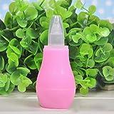 Bebé aspirador nasal aspirador nasal de silicona seguridad higiénica mocos de bombas y nariz chupar Booger del lechón para los recién nacidos y lactantes (rosa) 1 pc