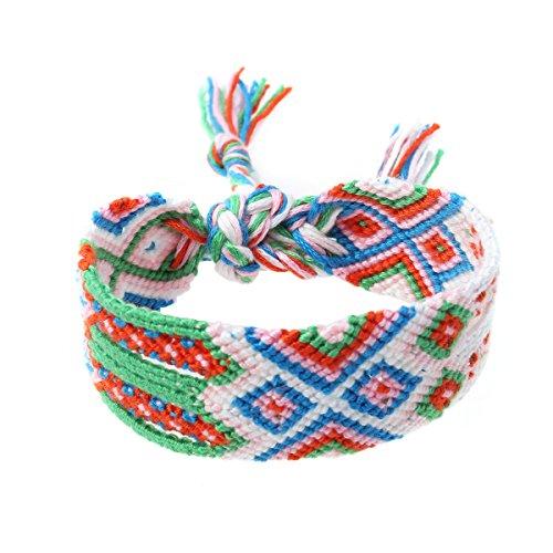 Gewebte Armbänder Handgefertigte Nepal Freundschaftsbänder Beach Braid String Wrap für Handgelenk Knöchel (Knöchel Armbänder String)