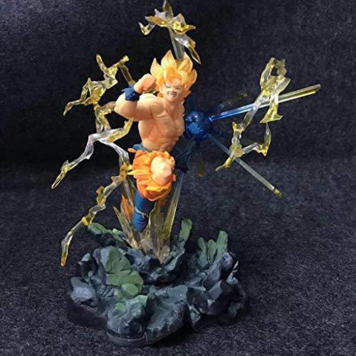 LJBOZ Dragon Ball Zero Anime Estatua Super Saiyan Wukong Modelo de Juguete PVC Anime Decoración Coleccionables Artesanía -7.5in Estatua de Juguete
