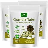 Graviola Tabletten 360 x 2000mg Fruchtpulver 4:1 Vegan, Qualitätsprodukt von MoriVeda – Sauersack Annona Muricata (3x120 Tabs)