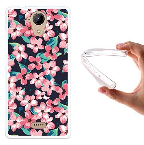 WoowCase Wiko U Feel Lite Hülle, Handyhülle Silikon für [ Wiko U Feel Lite ] Vintage Blumen Handytasche Handy Cover Case Schutzhülle Flexible TPU - Transparent