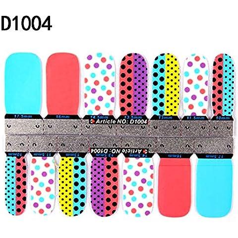 FaithYoo 3d Sparkle Cute Nail Wraps unghie strisce collezione Nail Foils Adesivi per Unghie Adesivi nail Patch in nuovo design di alta moda (style7) Style4