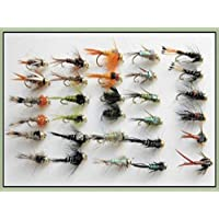 30GOLDHEAD Ninfa flies Hundimiento Pesca de la trucha de moscas, tamaño de mezcla de tipo Y, 10/12