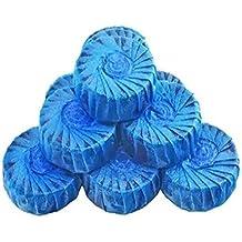 lumanuby 10pcs un conjunto Desodorante bloque pino fragancia agua soluble embalaje Desodorante limpiador de WC, para inodoro, color azul