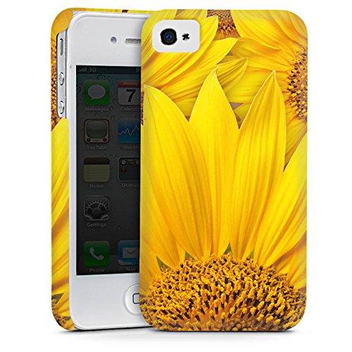 Apple iPhone 5s Housse Étui Protection Coque Tournesols Fleur Jaune Cas Premium mat