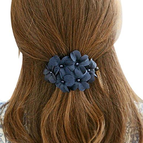 rauen Dame schick glänzend Blume Spange Haarspange Kopfschmuck blau (Spiele Verkauf Kleider)