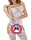 Buauty Floral Lace Bodysuit Midnight Lingerie Fishnet Bodystocking For Women