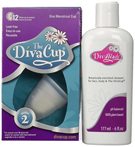 Diva Cup Model 2 DivaCup Menstrual Solution AND DivaWash by Diva