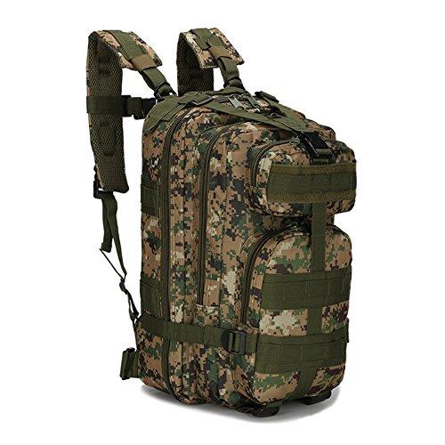 ECHI 3P zaino tattico, militari idrorepellente campeggio trekking zaini per campeggio d'escursione esterno Trekking Caccia (Nero) Army Green