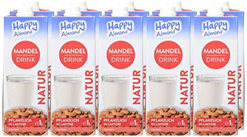Happy Milchalternativen Mandel Drink Natur, 10er Pack (10 x 1 l) - 2
