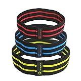 GR Hip resistencia banda círculo – Glute banda de resistencia para piernas y juego de – ideal texto ejercicio banda para sentadillas – Gimnasio en casa fisioterapia Yoga y entrenamiento de fuerza (Conjunto de tres)