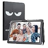 Labanema Tablet Coque avec MatrixPad Z4, Slim Fit Cuir PU étui Housse Fin et Pliable Coque pour 10.1' Vankyo MatrixPad Z4 10 inch Tablette - Don't Touch