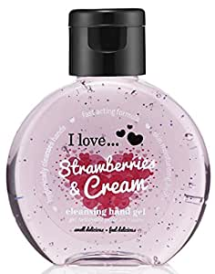 I Love... Strawberries & Cream Cleansing Hand Gel 65ml