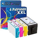 PlatinumSerie® 4x Patrone XXL für HP 920 XL Black Cyan Magenta Yellow mit Chip , Drucker : HP Officejet 6000 6000 Special Edition 6000SE 6000W 6000 Wide 6000 Wireless