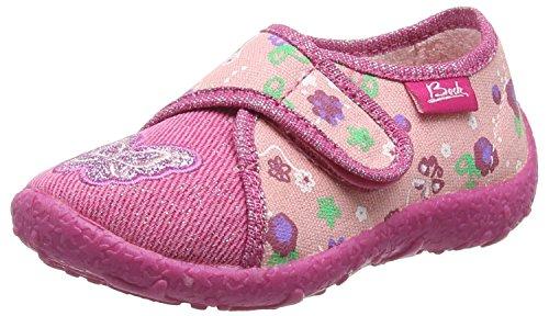 BECK Mädchen Schmetterling Flache Hausschuhe Pink (03) 23 EU