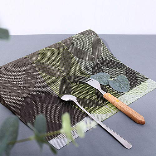 Mitlfuny Weihnachten DIY Home Decor 2019,Mode Muster Tischset Kompatibel Crossweave Isolierung Waschbare Tischset
