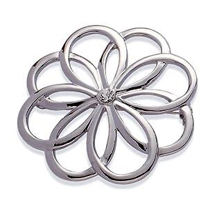 Jodie Rose Damen-Brosche Metall Glaskristall 48 mm 14989