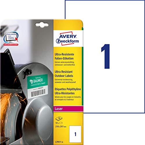 Avery España L7917-10 - Pack 10 hojas etiquetas seguridad
