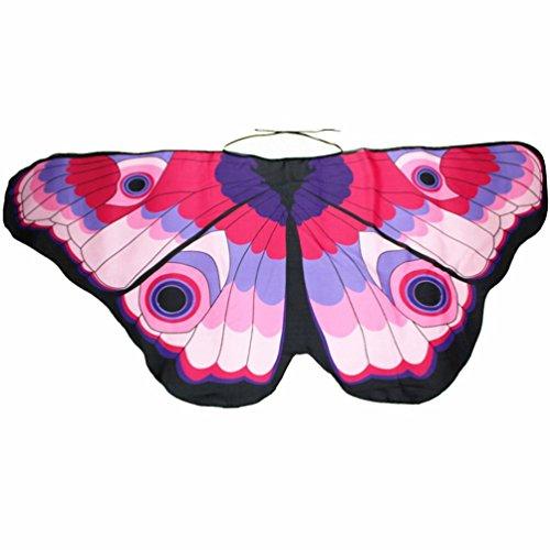 Butterfly Wings für Mama und mich - Familien-Matching-Set Schmetterlingsflügel - Cosply Kostüm Spielzeug - Damen Nymph Pixie Poncho Kostüm Zubehör für Halloween Weihnachten Faschingskostüme (Baby 118*48CM, C)