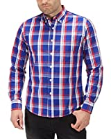 Charles Wilson Long Sleeve Classic Gingham Checked Casual Shirt
