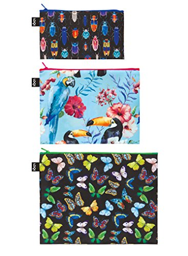 LOQI WILD Zip Pockets - Zip-Etuis