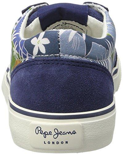 Pepe Jeans Jungen Traveler Skate Low-Top Blau (Indigo)