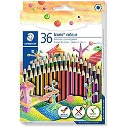 Staedtler Noris 185 CD36. Lápices ecológicos. Caja con36 lápices de colores variados.