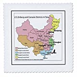 3drose QS _-Licht _ 1Antike Landkarte von China Quilt