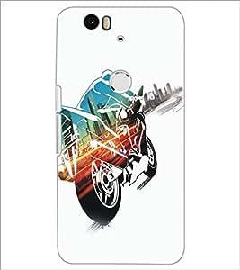 PrintDhaba Bike D-5361 Back Case Cover for HUAWEI NEXUS 6P (Multi-Coloured)