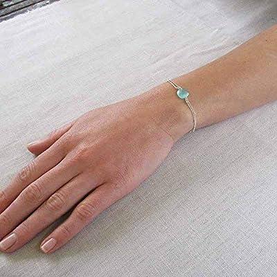 Bracelet argent cristal bleu turquoise