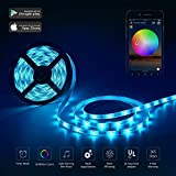 YOMYM LED Strip, LED Lights with Light Strip Kit controlled by WiFi 5050 wireless smart phone, Working with Android and iOS S