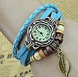 Viskey orologi da polso, donna, stile vintage, motivo: farfalla
